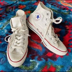Converse — White CTAS Hightop Sneakers